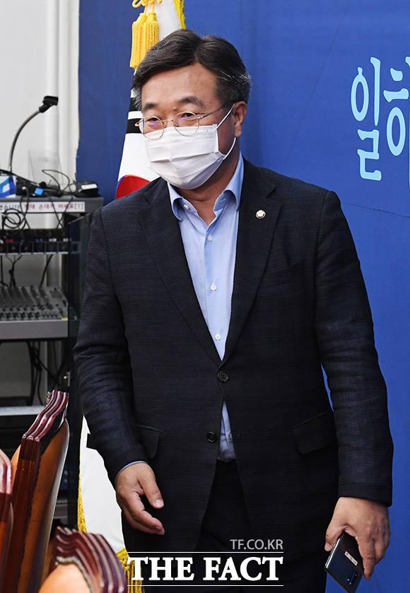 회의 참석하는 윤호중 법제사법위원회 위원장