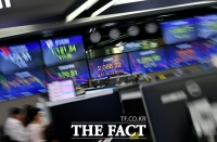 [TF사진관] 급락했던 증시, '코스피 2% 상승 출발'