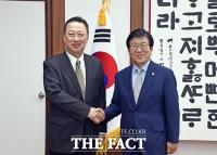[TF사진관] 박용만 대한상의 회장, 박병석 국회의장 예방