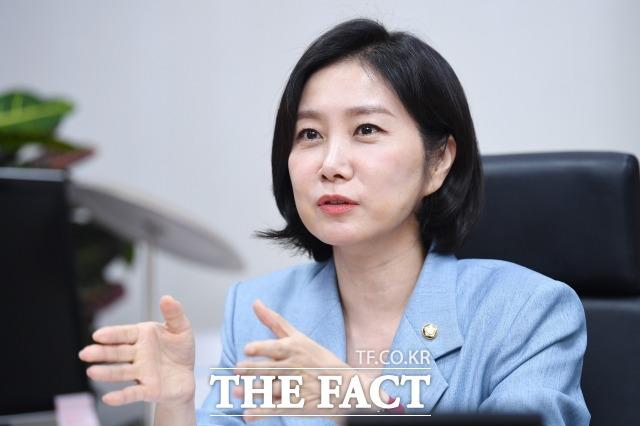 허은아 미래통합당 의원은 지난 16일 더팩트와 인터뷰에서 4, 5, 6월 많은 변화가 있었다며 6t 같은 6g 배지의 무게를 느꼈다고 말했다. /국회=남윤호 기자