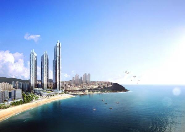 롯데호텔의 프리미엄 호텔 브랜드인 시그니엘(SIGNIEL)의 두 번째 호텔인 시그니엘 부산은 6성급으로, 국내에서 두 번째로 높은 엘시티(높이 411.6m)의 랜드마크타워 3~19층에 총 260실 규모로 들어섰다. /호텔롯데 제공