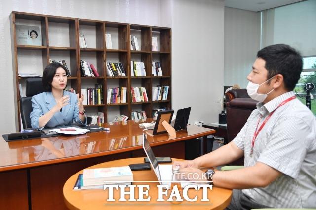 허 의원은 21대 원 구성 협상에서 더불어민주당은 답을 정해놓고 협상을 했다고 꼬집었다. /남윤호 기자
