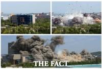 [TF사진관] 북한 연락사무소 폭파에 와르르...'발빠르게 공개한 고화질 사진'