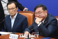 [TF포토] 굳은 표정의 민주당 지도부