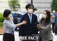 [TF사진관] '감찰 무마 의혹' 조국 법원 출석