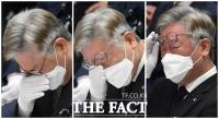 [TF포토] 이재명, '이천 화재사고 영결식서 눈물 펑펑'