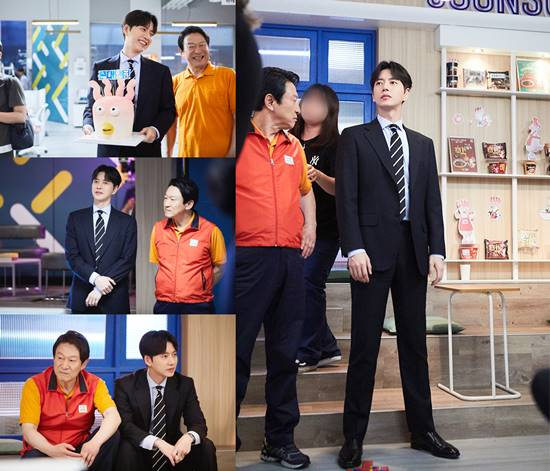 MBC 수목 드라마 꼰대인턴의 마지막 촬영 현장이 공개됐다. 이날 배우 박해진은 스태프들과 동료 배우들에게 감사한 마음을 전했다. /마운틴무브먼트 제공