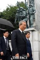 [TF포토] 인천상륙작전 기념관 찾은 김종인