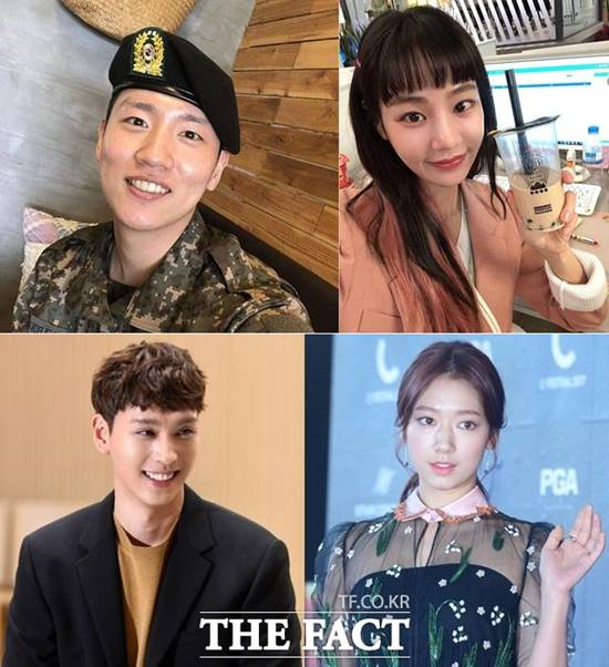 공개 열애 중인 래퍼 한해와 배우 한지은, 박신혜와 최태준(왼쪽 상단부터 시계방향)이 행복한 근황을 전했습니다. /한해, 한지은 SNS·더팩트 DB