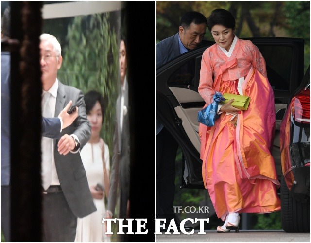 아모레퍼시픽 서경배 회장과 부인 신유경 씨.