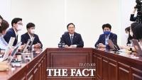 [TF사진관] 더불어민주당 당 대표 선거 불출마 선언하는 홍영표 의원