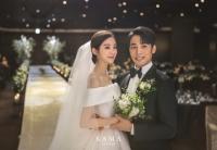 우혜림♥신민철, 결혼식 사진 공개…행복한 '선남선녀'