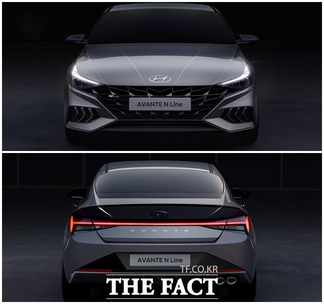 올 뉴 아반떼 N라인은 로우 앤 와이드를 콘셉트로 혁신적인 디자인과 첨단 사양을 대거 적용했다. /현대차 제공