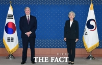 [TF포토] 강경화 장관 만난 스티븐 비건
