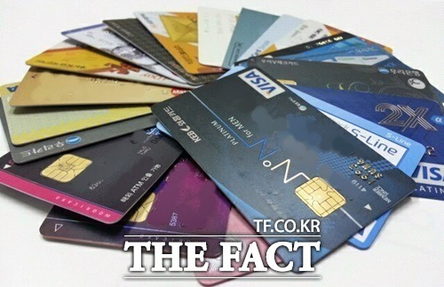 유통업계가 충성고객 확보를 위해 자사 혜택을 강화한 상업자 표시 신용카드를 선보이고 있다. /더팩트 DB