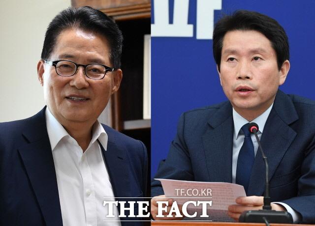 국회는 8일 박지원 국가정보원장(왼쪽) 후보자와 이인영 통일부 장관 후보자에 대한 인사청문 요청안을 접수했다. /남용희·배정한 기자
