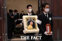 [TF사진관] '박근혜 전 대통령 이복 언니' 박재옥 씨 발인