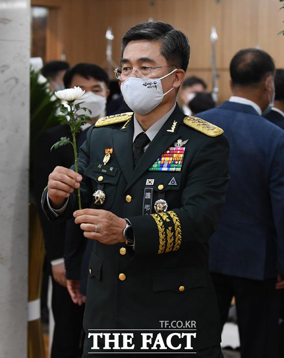 조문 하는 서욱 육군참모총장