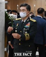[TF포토] 고 백선엽 장군 빈소 찾은 서욱 육군참모총장