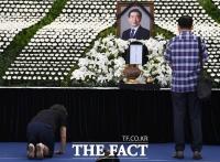 [TF포토] 고 박원순 시장 조문하는 시민들