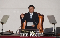 [TF현장] '48일' 만의 지각 개원식…여 '19번 박수' vs 야 '침묵'