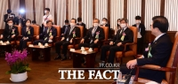 [TF사진관] 국회에 모인 5부요인과 여·야 대표들