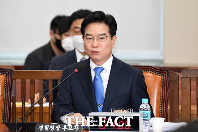 질의답변하는 김창룡 후보자