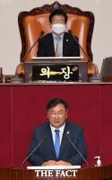 [TF사진관] 김태년, '교섭단체 대표 연설'… 7월 국회의 시작