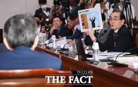 [TF포토] 사상 관련 질의하는 태영호 의원