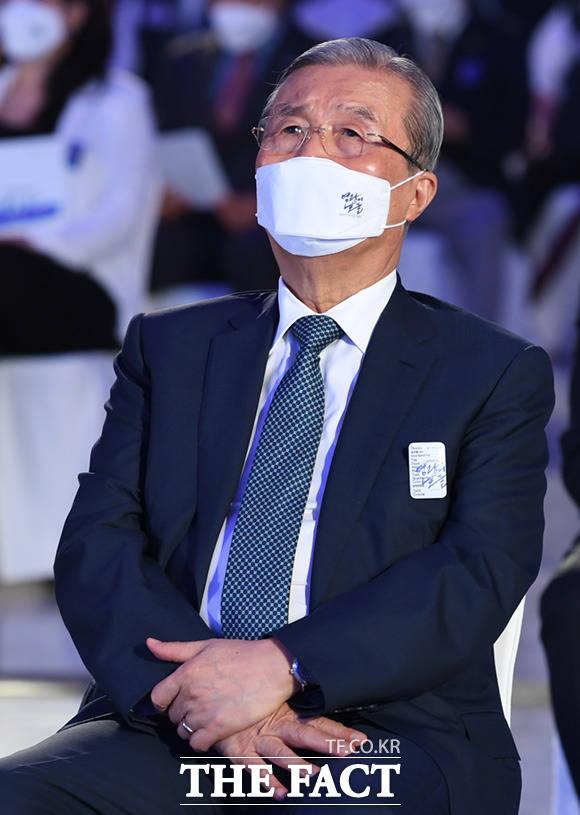 기념식 참석한 김종인 미래통합당 비상대책위원장