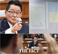 [TF사진관] '학력위조' 의혹 놓고 설전 벌인 박지원과 하태경