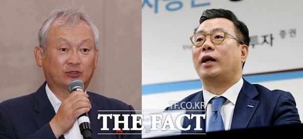 증권사 '빅3' 수장 희비…최현만 '부러운' 정영채·�..