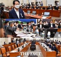 [TF사진관] 미래통합, '반발하며 퇴장'… '그래도 법안 상정'하는 거대 여당의 힘