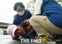 [TF사진관] 오리온 직장 내 괴롭힘...'피해 유가족들의 절규'