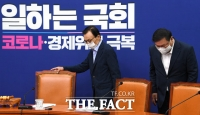 [TF포토] 최고위원회의 참석하는 이해찬-김태년