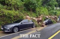 [TF포착] 남부 지방 집중호우...'토사에 파묻힌 차량들'