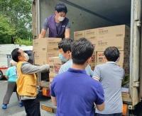 CU, 물류센터 이용해 '침수 피해' 대전에 긴급구호물품 지원