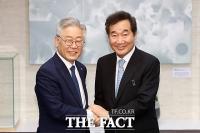 [TF현장] 이낙연-이재명 대선주자 선호도1,2위 회동, '소리장도'