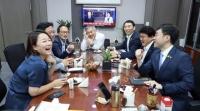 '물폭탄' 대전 황운하 '파안대소 사진' 논란에