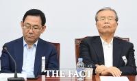 [TF사진관] 주호영-김종인, 정부 주거 정책에 '심각한 표정'