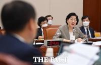 [TF사진관] 야당의 '박원순 의혹' 질타 받는 이정옥 장관