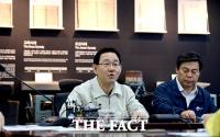 [TF포토] 한강홍수통제소 현장점검하는 주호영