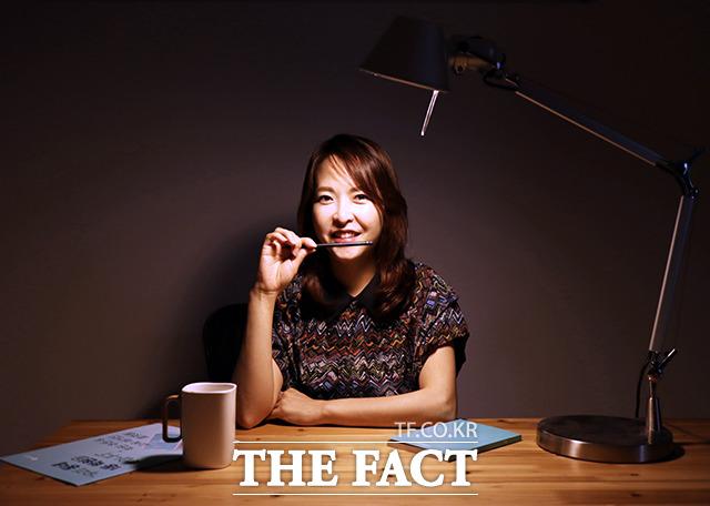 학원추천 플랫폼 앱 THE배우다의 양춘미 대표가 지난달 31일 서울 마포구에 있는 사무실에서 더팩트 취재진을 만나 인터뷰를 가졌다. /THE배우다 제공