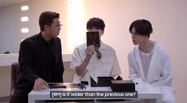 [삼성 갤럭시 언팩] '완전 혁신이네' BTS '갤Z폴드2' 깜짝 언박싱..
