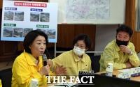 [TF포토] 안성 수해지역 찾은 심상정 대표