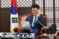 송영길, 러시아 하원 외교위원장과 전화 회담…