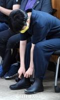 [TF포토] 작업복에 장화신은 류호정