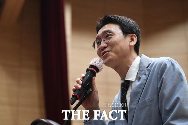 김웅 미래통합당 의원이 이번 검찰 인사를 신랄하게 비판했다. /남윤호 기자
