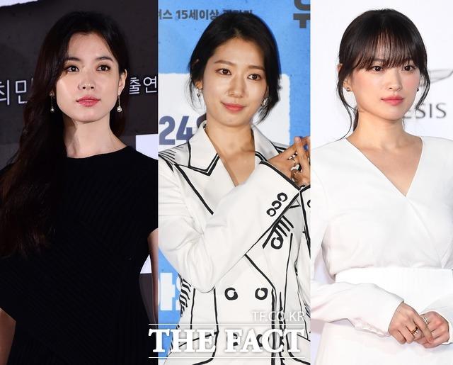 배우 한효주 박신혜 천우희가 수재민을 돕기 위한 기부 행렬에 동참했다. /더팩트 DB