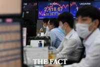 [TF포토] 코스피 2,400선 돌파 '분주한 딜링룸'